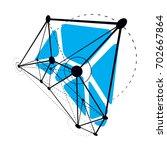 tech abstract shape  polygonal... | Shutterstock . vector #702667864