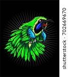 cucak hijau bird | Shutterstock .eps vector #702669670