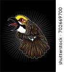 cucak rowo bird | Shutterstock .eps vector #702669700