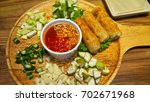 vietnamese food is known by the ... | Shutterstock . vector #702671968