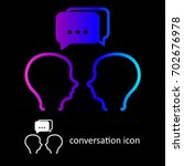 conversation icon. two people...