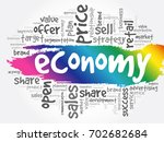 economy word cloud collage ... | Shutterstock .eps vector #702682684