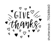 give thanks positive quote... | Shutterstock .eps vector #702688660