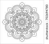 flower mandala vector... | Shutterstock .eps vector #702694780