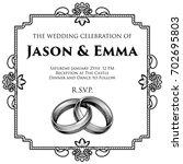 a wedding invitation invite... | Shutterstock .eps vector #702695803