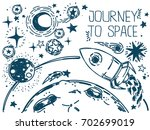 banner with sketch stars ... | Shutterstock .eps vector #702699019