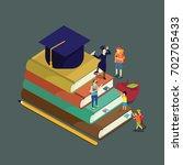 education step | Shutterstock .eps vector #702705433