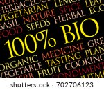 100  bio word cloud  conceptual ... | Shutterstock .eps vector #702706123