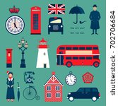 set of english symbols.  | Shutterstock .eps vector #702706684