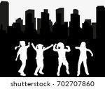 vector  isolated silhouette of... | Shutterstock .eps vector #702707860