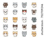 cute cartoon cats and dogs with ... | Shutterstock .eps vector #702709246