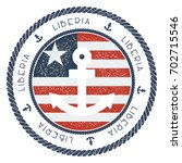 nautical travel stamp with... | Shutterstock .eps vector #702715546