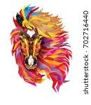 horse geometric pattern ... | Shutterstock .eps vector #702716440