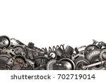 mechanical collage made of old... | Shutterstock . vector #702719014