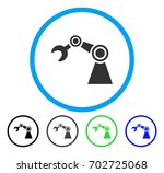 manipulator rounded icon.... | Shutterstock .eps vector #702725068