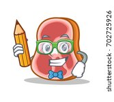 student with pencil meat... | Shutterstock .eps vector #702725926