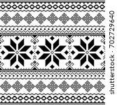 traditional folk black... | Shutterstock .eps vector #702729640