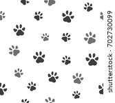 pet paw seamless pattern icon.... | Shutterstock .eps vector #702730099