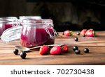 homemade jam with berries and... | Shutterstock . vector #702730438
