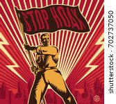 stop hoax propaganda. vintage... | Shutterstock .eps vector #702737050