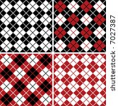 Argyle And Plaid Pattern Set I...