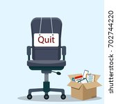 business chair with quit... | Shutterstock .eps vector #702744220
