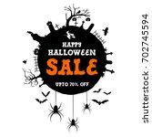 halloween sale banner  vector... | Shutterstock .eps vector #702745594