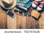 clothing and accessories for... | Shutterstock . vector #702747628