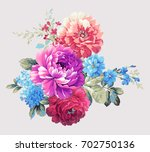 blooming flowers  the leaves... | Shutterstock . vector #702750136