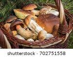 detail of wicker basket with... | Shutterstock . vector #702751558