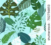 tropical seamless pattern with... | Shutterstock .eps vector #702756853