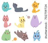 cat vector | Shutterstock .eps vector #702759724