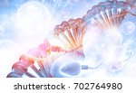 dna and sperm on blue...   Shutterstock . vector #702764980