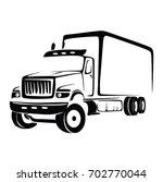truck cargo vector. big truck... | Shutterstock .eps vector #702770044