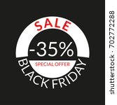 35  sale tag or discount icon.... | Shutterstock .eps vector #702772288