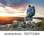 travel photo  the man relaxing  ... | Shutterstock . vector #702772384