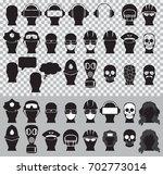 vector illustration set of head ...   Shutterstock .eps vector #702773014
