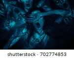 3d illustration of scary ghost... | Shutterstock . vector #702774853