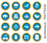 oil industry items icons blue... | Shutterstock .eps vector #702775228