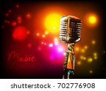 music background with vintage... | Shutterstock .eps vector #702776908