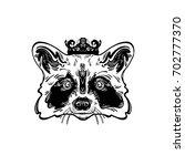 the head is adorable raccoon... | Shutterstock .eps vector #702777370