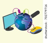 world and technology | Shutterstock .eps vector #702779716