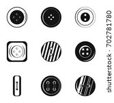 clothes button accessory icon... | Shutterstock .eps vector #702781780