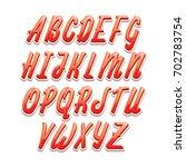 vector alphabet. calligraphic...   Shutterstock .eps vector #702783754
