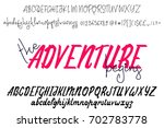 vector alphabet   the adventure ... | Shutterstock .eps vector #702783778