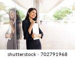 a beautiful professional indian ... | Shutterstock . vector #702791968