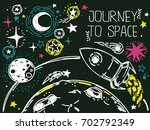 banner with sketch stars ... | Shutterstock .eps vector #702792349