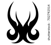 tattoo tribal vector design.... | Shutterstock .eps vector #702792514