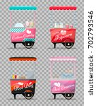 carts set retail  popcorn ... | Shutterstock .eps vector #702793546