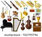 musical instruments elements...   Shutterstock .eps vector #702795796